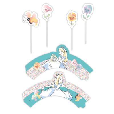 Set per decorazione dolci Alice nel Paese delle Meraviglie
