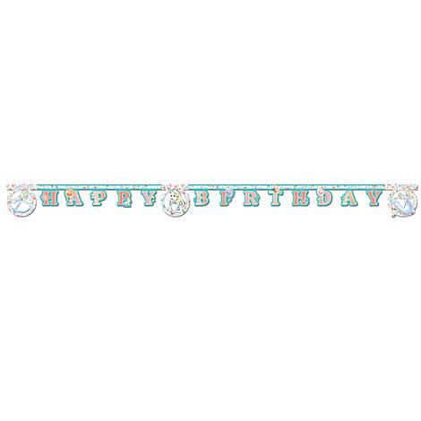 Banderole d'anniversaire Alice au Pays des Merveilles