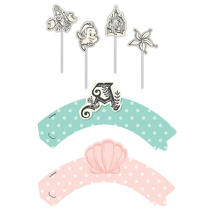 Disney Store The Little Mermaid Cake Decorating Set