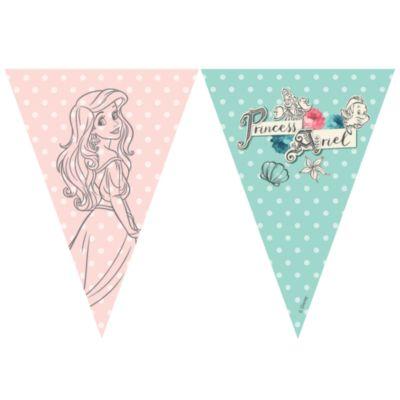 Cartel de banderines La Sirenita