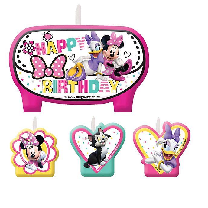 Disney Store Lot de bougies d'anniversaire Minnie et ses amis