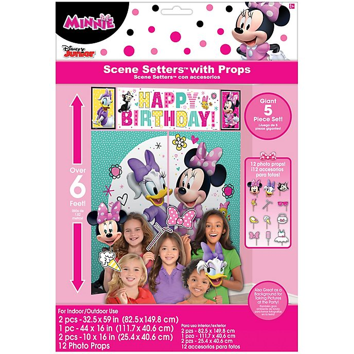 Disney Store Minnie Mouse and Friends Party Scene Setter With Props