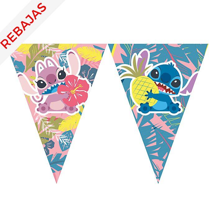 Cartel de banderines Stitch y Ángel