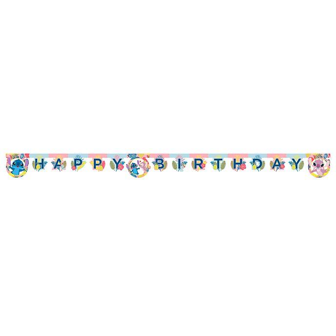 Disney Store Stitch e Angel, festone Happy Birthday