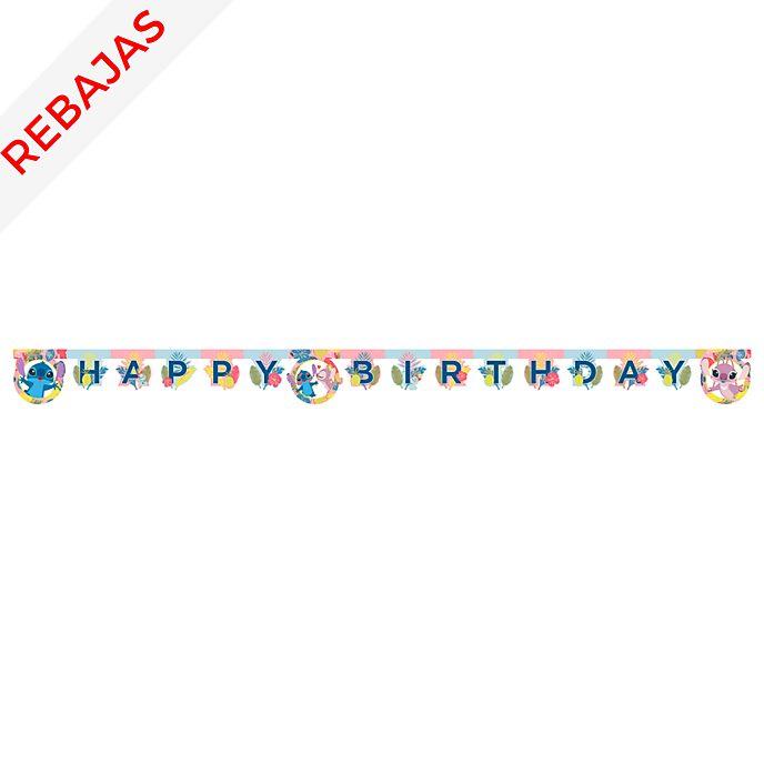 Cartel de cumpleaños Stitch y Ángel, Disney Store