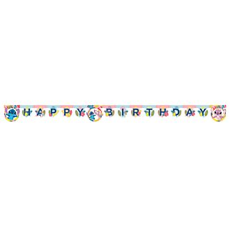 Disney Store Stitch and Angel Birthday Banner