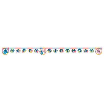 Stitch and Angel Birthday Banner