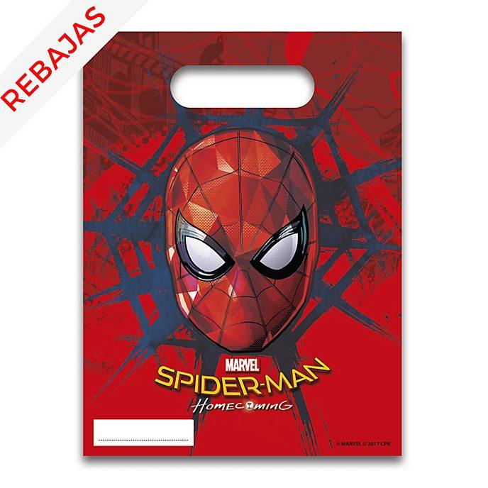 Set 6 bolsas fiesta, Spider-Man