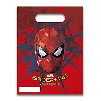 Lot de 6sachets cadeaux Spider-Man