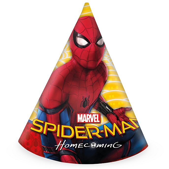 Spider-Man Homecoming x6 Party Hats