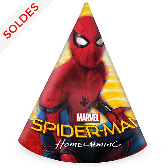 Lot de 6 chapeaux de fête Spider-Man: Homecoming
