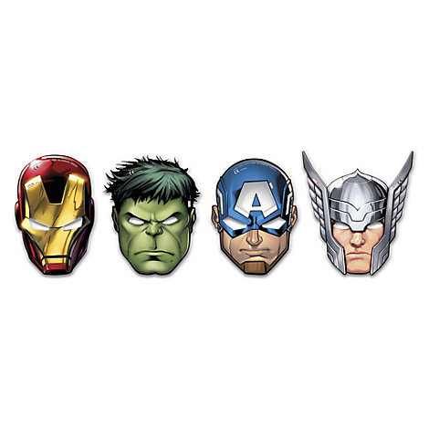 Set 6 máscaras fiesta, Los Vengadores de Marvel