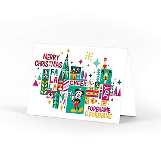 Mickey and Friends Share the Magic Fa La La Personalised Greeting Card