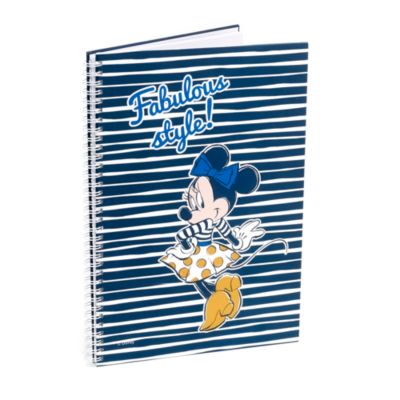 Minnie Mouse Personalised A4 Striped Notebook