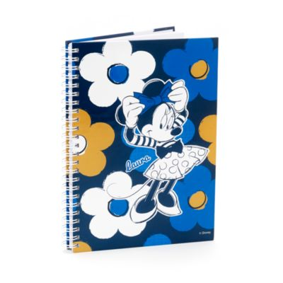 Minnie Mouse Personalised A5 Floral Notebook