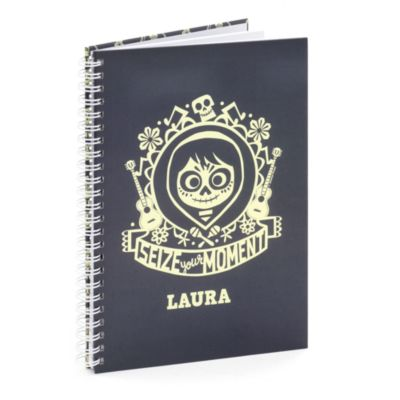 'Seize Your Moment' A5 Personalised Notebook, Disney Pixar Coco