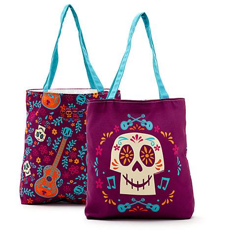 Skull Personalised Tote Bag, Disney Pixar Coco