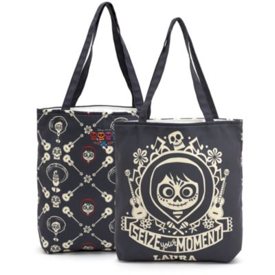 'Seize Your Moment' Personalised Tote Bag, Disney Pixar Coco