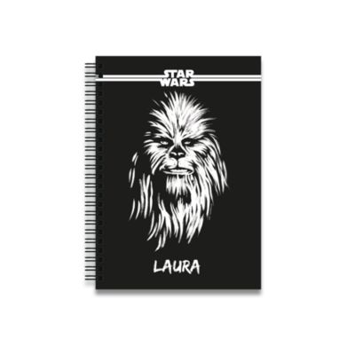 Chewbacca Personalised A5 Notebook, Star Wars