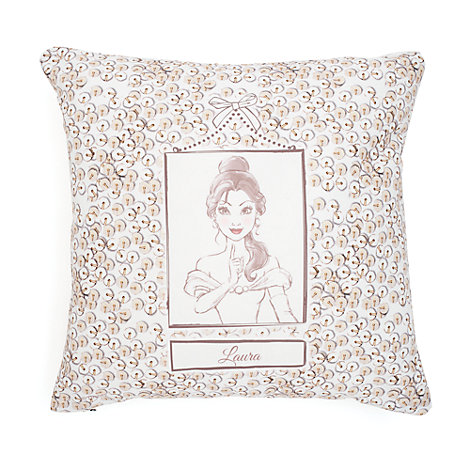 Belle Blush Personalised Sequin Cushion