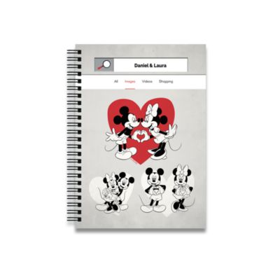 Mickey and Minnie Mouse A4 Notebook