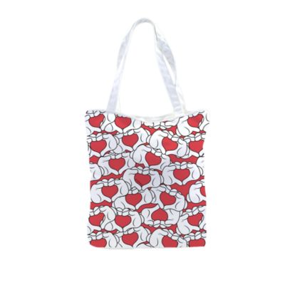 Mickey Mouse Love Heart Personalised Tote Bag