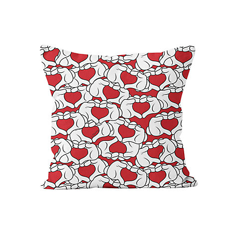 Mickey Mouse Love Heart Personalised Cushion