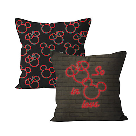 Mickey and Minnie 'So In Love' Personalised Cushion