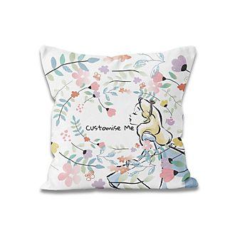 Alice in Wonderland Flowers Personalised Cushion