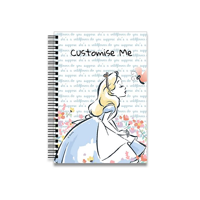Alice in Wonderland Flowers A5 Notebook