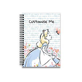 Alice in Wonderland Flowers A5 Notebook