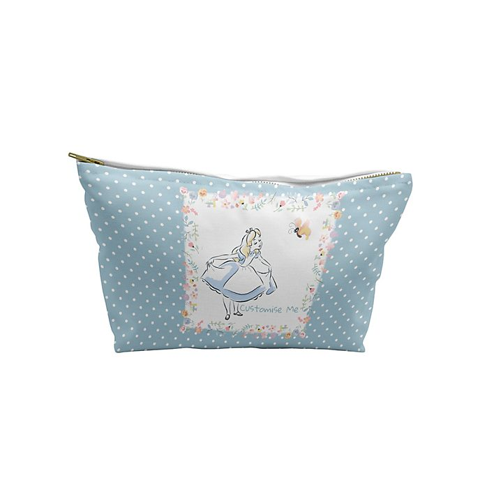 Alice in Wonderland Blue Dots Wash Bag, Medium