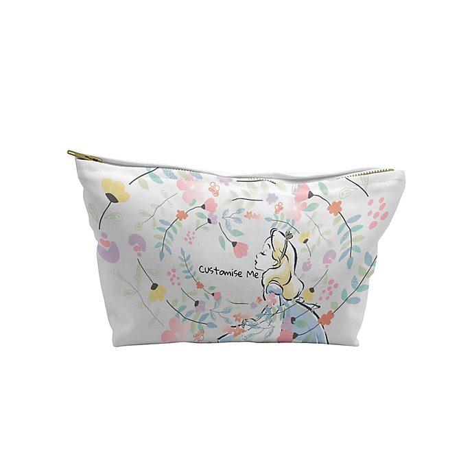 Alice in Wonderland Flowers Wash Bag, Small
