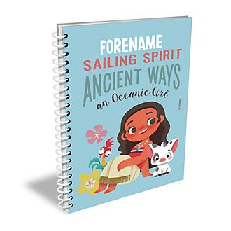 Disney Store Moana Oceanic Girl Personalised A4 Notebook