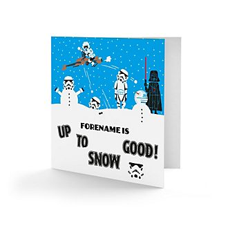 Star Wars Personalised Up To Snow Good Greeting Card