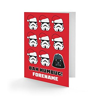 Star Wars Personalised Bah Humbug Greeting Card