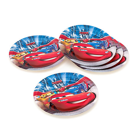 Lot de 8 assiettes de fête Disney Pixar Cars