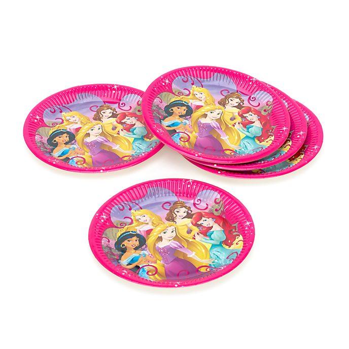 Ensemble de 8 assiettes de fête Princesses Disney