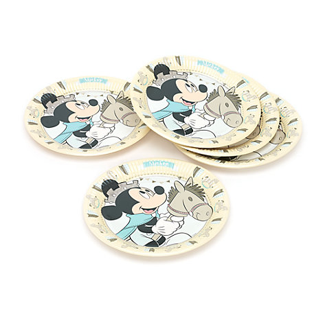 Ensemble de 8 assiettes de fête Prince Mickey Mouse