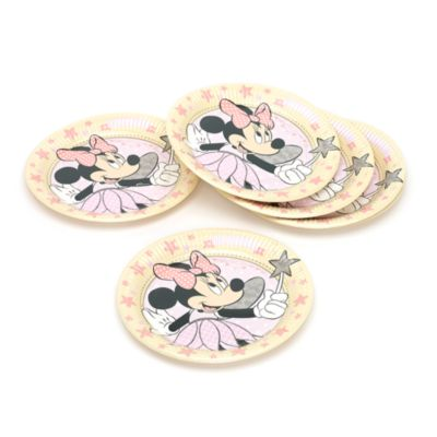 Minnie Mouse 8x Fairy Party Plates Set