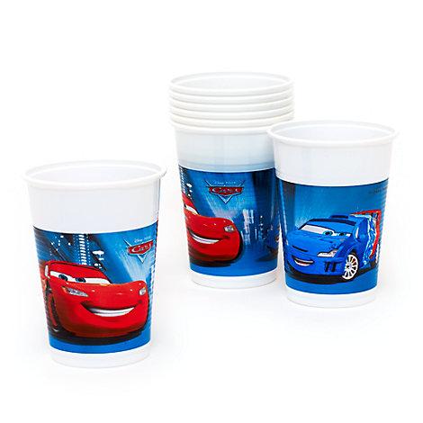 Disney Pixar Cars, 8 bicchieri di plastica