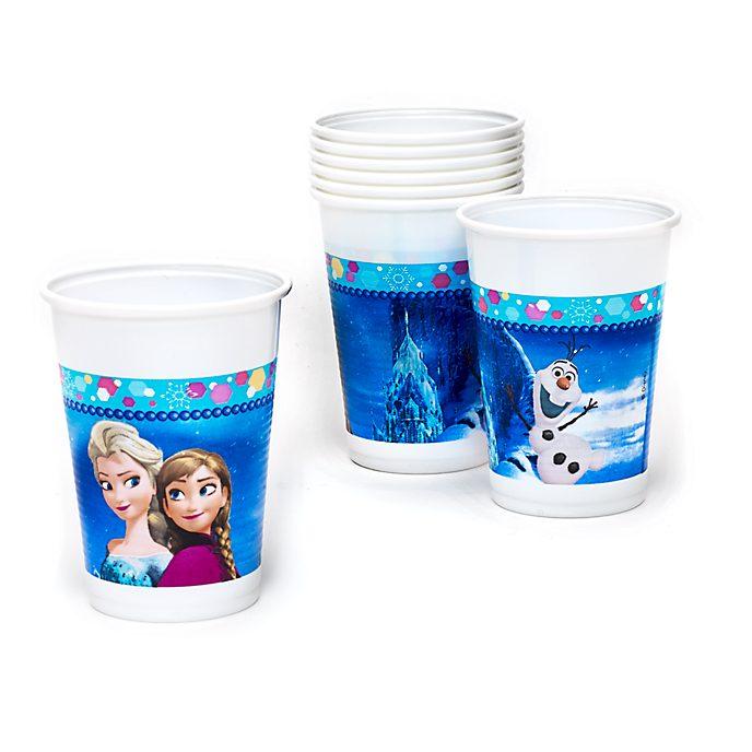 Frozen - Il Regno di Ghiaccio, 8 bicchieri di plastica