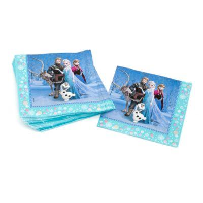Lot de 20 serviettes de fête La Reine des Neiges