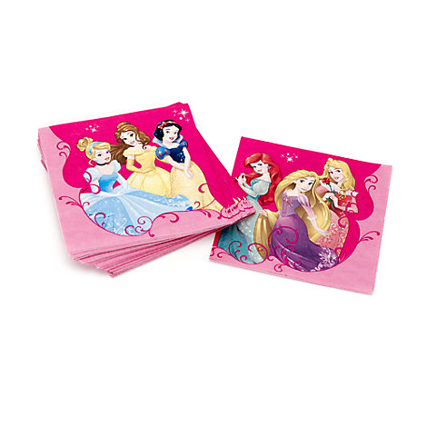 Lot de 20 serviettes de fête Princesses Disney