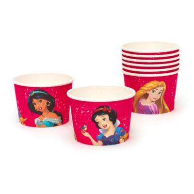 Lot de 8 pots à friandises Princesses Disney