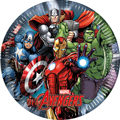 Avengers 8x Party Plates