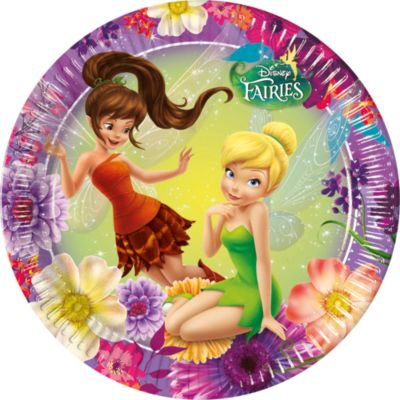 Platos fiesta Disney Fairies (8 u.)