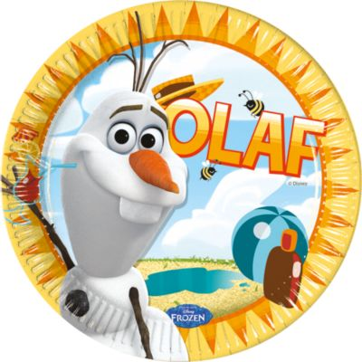 Olaf 8x Party Plates, Frozen