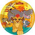 Lot de 8 assiettes de fête La Garde du Roi Lion