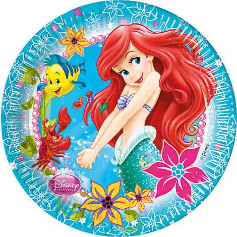 Lot de 8 assiettes de fête Ariel